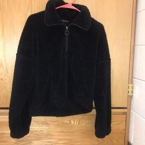 Fuzzy oversized jacket